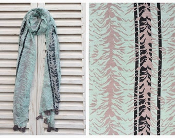 SALE 35% Turquoise Scarf, Scarves for Women, Printed Scarf, Spring Scarf, Cotton Scarf, Long scarf, Summer Scarf, Pareo