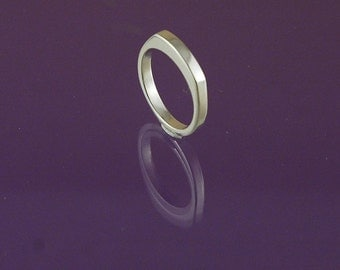 Signet Ring  - Thin & Rectangular with a slightly rounded top in 925 Sterling Silver