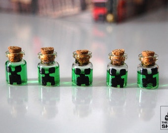 Creeper potions in miniature