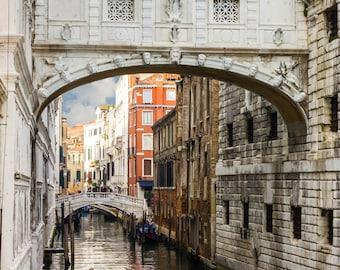 Venice Photography, Bridge of Sighs, Italy Photography, Home Decor, Wall Art