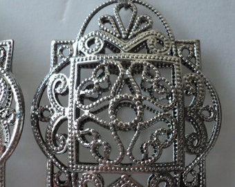 Bird Cage, Vintage, Gatsby Style Big Earrings