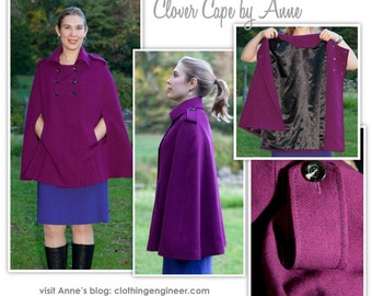 Clover Cape // Sizes 10, 12 & 14 // Women's Cape Jacket PDF sewing pattern by Style Arc // DIY clothing // Challenging Sewing Projects