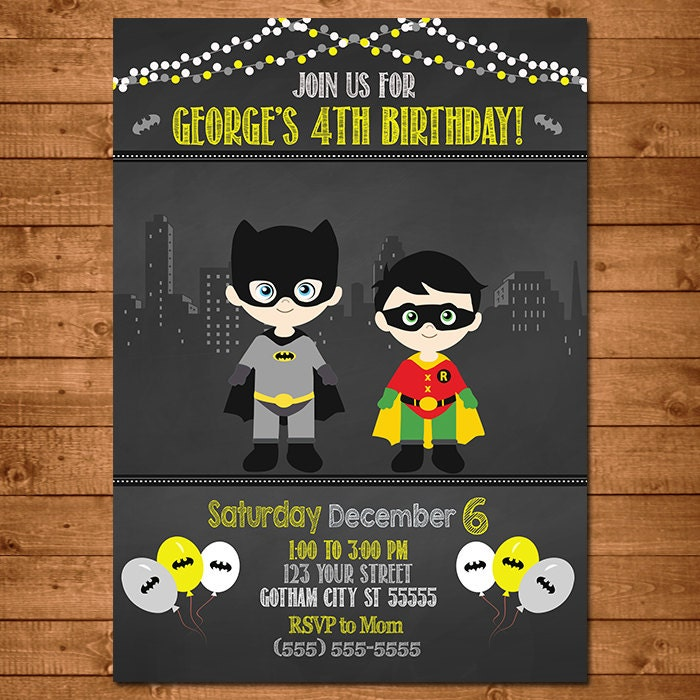 Batman Party Invitations – sweetkingdom.co