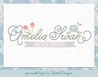 Premade Logo - Pretty Wildflowers Logo