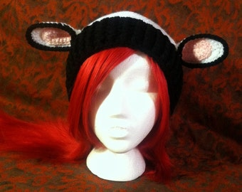 Custom Cow Ear Slouch Beanie