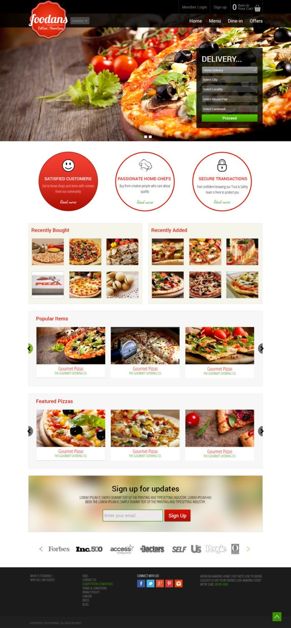 Pizza Order Taking and Delivery Template Online Pizza