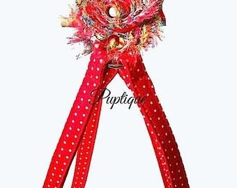 Red Polka Dot Dog Harness ~ Red Polka Dot ~ One Step ~ Adjustable