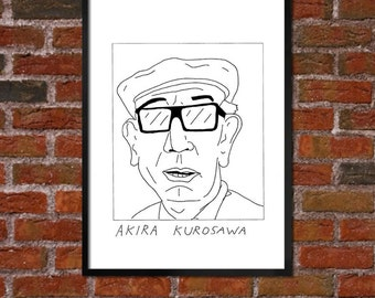 Badly Drawn Akira Kurosawa - Poster - *** BUY 4, GET A 5th FREE***