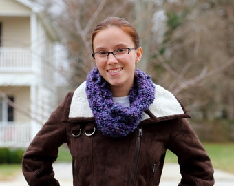 SALE Deep Purple Super Soft, Cozy, Infinity Scarf