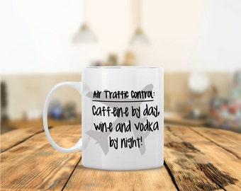 Air Traffic Control Ceramic Coffee Mug - Dishwasher Safe - Cute Coffee Mug- Funny Coffee Mug - Custom - Personalized