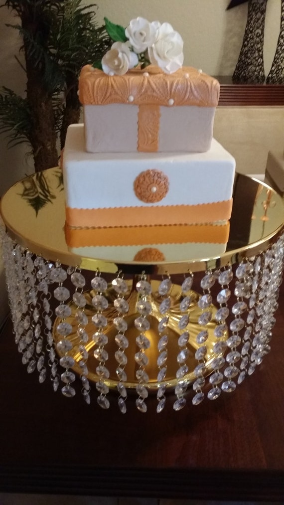 gold bling wedding cake stand items similar to wedding cake stand bling bling 14747