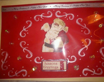 4 x HANDMADE CHRISTMAS CARDS