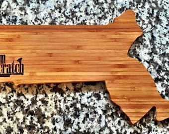 Massachusetts Shaped Cutting Board
