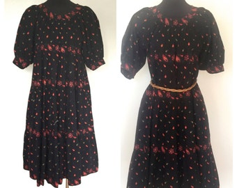70's Soleiado La Provence de Pierre Deux Vintage Dress Hand Made in France Size Small