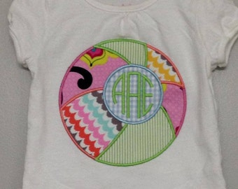 Personalized Beach Ball Shirt, Onesie, Dress,- Applique, Customized, Embroidered, Initials