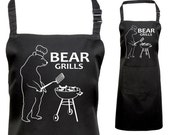 Funny Printed Bear Grills Apron, Fan of Bear Grylls
