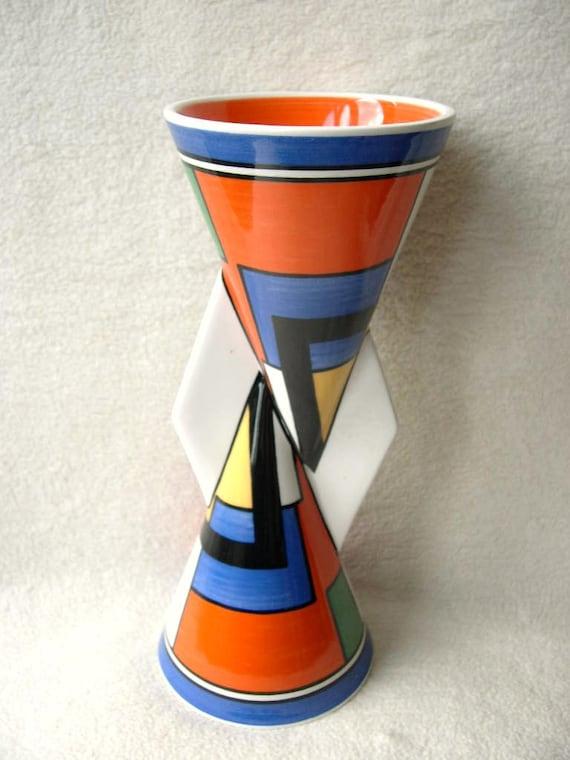Clarice cliff mondrian yo yo vase limited by legendsforever for Mondrian vase