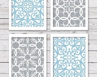 PRINTABLE Art, Light Blue Art, Bedroom Art, INSTANT DOWNLOAD, Bathroom Art, Wall Art, Printable Wall Art, Blue Art Prints, Wall Decor