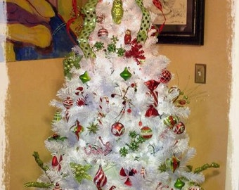 Dr. Seuss Christmas Tree-Decorated