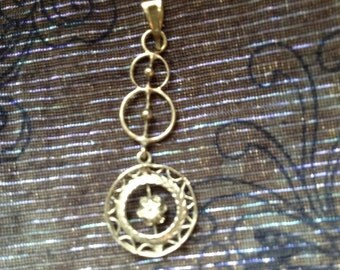 White Gold Edwardian Pendant