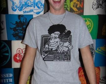 "Tee shirt ASKAN UNITED ""DJ"" - T-shirt, grey - black ink cartridge"