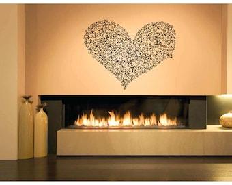 Wall Vinyl Sticker Decals Mural Room Design Heart  Love Romantic bo015