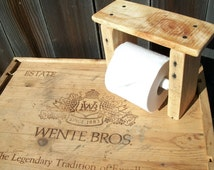 Free Shipping Wooden Toilet Paper Roll Holder With Shelf