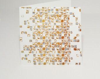 Gold Mosaic Card