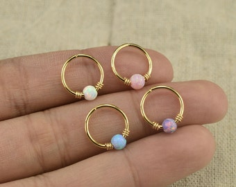 opal earring,opal cartilage earring,tragus earring,girlfriend earring,bff gift