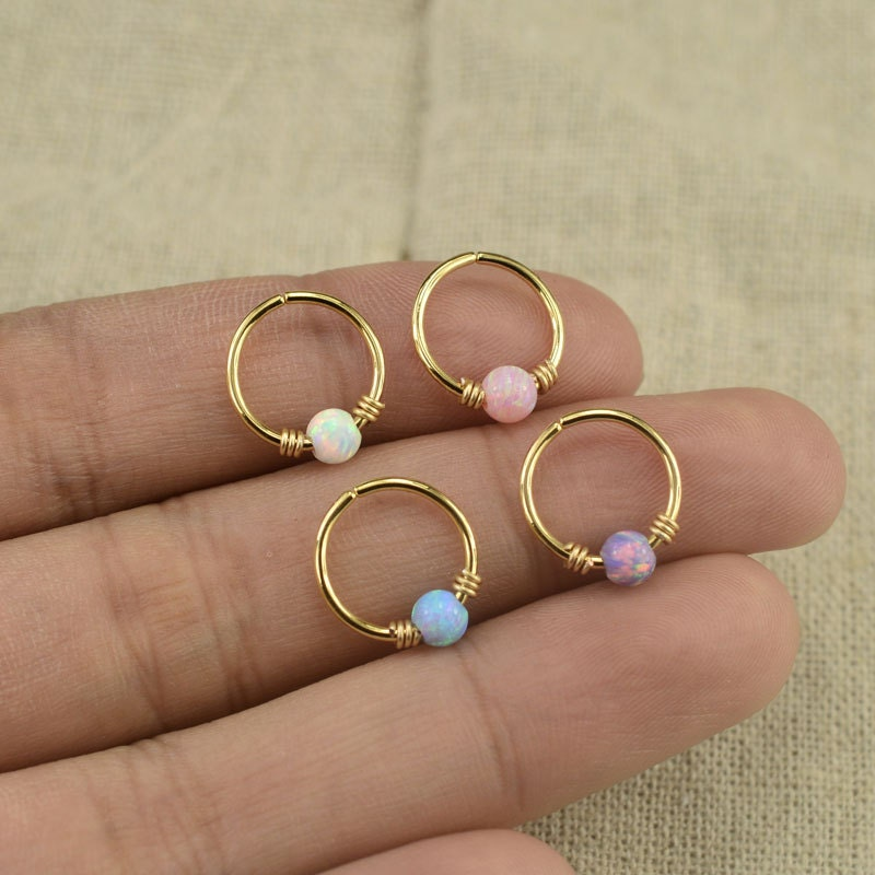 opal cartilage earrings opal earringopal cartilage earringtragus earringgirlfriend 2385