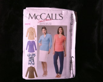 McCall's Pattern #M6513 Misses, Women's, Top, For Knits.  Size 14-22