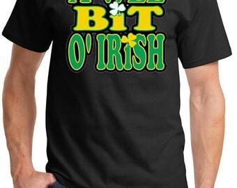 St Patrick's Day Shirt A Wee Bit Irish Men's Tee T-Shirt-A10000-PC61