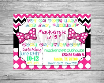 Minnie Mouse Inspired Birthday Party Invitation, Minnie Mouse Birthday Party, Printable Minnie Mouse Invitation, Minnie Mouse Party