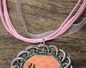 circle silver dream word pendant