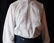 American Civil War Men's Cotton Shirt With Pleating