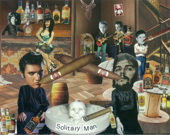 Solitary Man - art collage