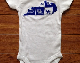 Kentucky Onesie Baby - Kentucky State Outline - Handmade -Made to Order