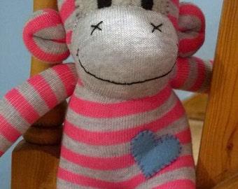 Personalised Sock Monkey - Medium MADE TO ORDER