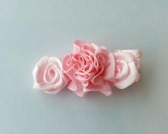 pink baby hair clip, Pink hair clip, pink baby clip, girls hair clip, baby hair clip, Toddler hair clip, flower hair clip, rose hair clip