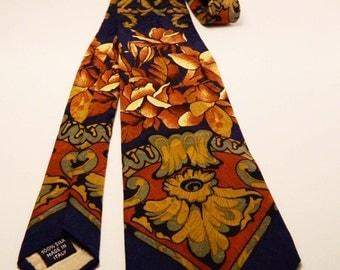 Vintage Necktie, Vintage Tie, Men 1980's Accessorie,Made in Italy,Pure Silk 100%