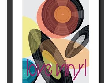 Vinyl record print, wall art, music print, music decor, Record print, modern art print, gifts for him