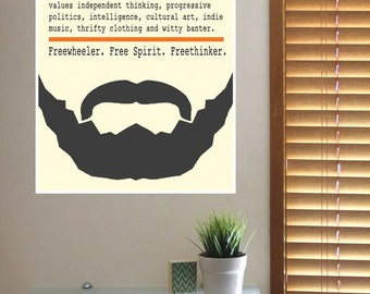HIPSTER Definition Art POSTER Print - A4 8x11 Inch Printed Typography Design