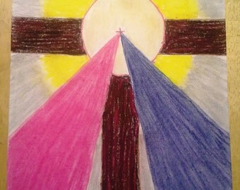 Cross of Mercy - Soft Pastel Drawing