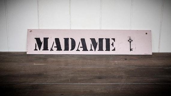 Wood panel sign madam by rockyourwedding on etsy