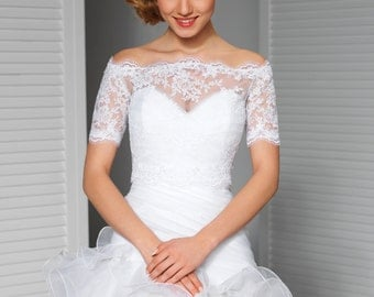 Lace Bridal Topper in Ivory or White
