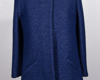 Navy Bell Jacket Coat Size 12