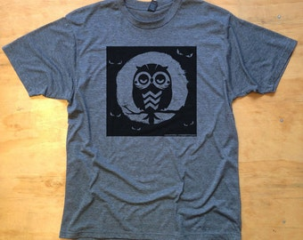 Lil Hoot don't care about spooky eyes Screenprinted Tshirt- Limited Edition