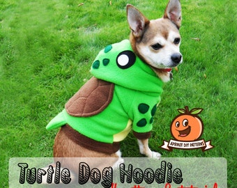 Dog Turtle Hoodie Costume XS - MED Pdf Pattern and full tutorial