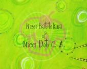 Mixed Media background, art journal, instant download, scrapbooking, digital art by Nicci Dot C A
