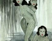 Swamp Girls art print by Johanna Öst